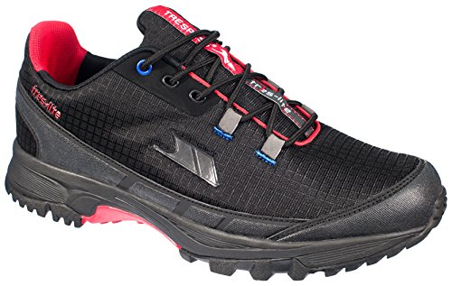 Trespass Frontier, Chaussures de Running Entrainement Homme Noir (black/red)