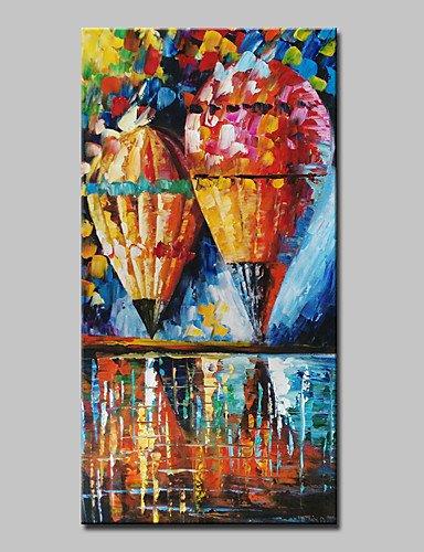 FPP Dipinta a mano Astratto / Paesaggi astratti Dipinti ad olio,Modern Un Pannello Tela Hang-Dipinto ad olio For Decorazioni per la casa , with stretched frame-l , with stretched frame-l