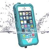 iPhone 5 5S Hülle,iPhone SE Outdoor Case, ZVE® Staubdicht Schneedicht Stoßfest Wasserdicht Schutzhülle Tasche Bumper Abdeckung mit Displayschutz für iPhone 5/5s/se Azur