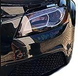 Scheinwerfer Folie HELL-SCHWARZ 100CM X 30CM UV-und Wasserbeständig, Kratzfreise anbringen Dank Schutzfolie, passend für Alle Automarken