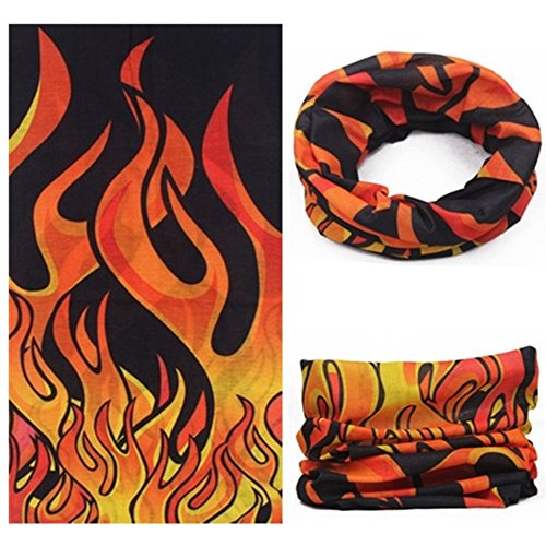 Sea Team Assorted 18 in 1 Versatile Polyester Fiber Sports & Casual Headwear - Can be Used as Neck Gaiters, Bandannas, Balaclavas, Masks & More, A-10 by Sea Team style 1