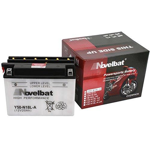 Novelbat Y50-N18L-A Motorradbatterie 12V 20Ah 220A