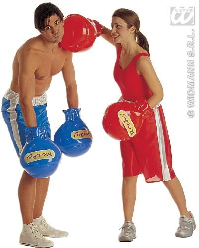 Widman Guantoni da Boxe - gonfiabili - Adult Fancy Dress - Blu
