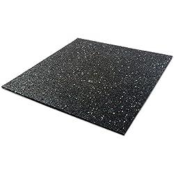 Tapis anti vibration etm® 60x60cm | caoutchouc isonoriant, isolant | idéal machine à laver, batterie, etc. | 5, 10 ou 20mm d'épaisseur - 5mm