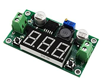 LM2596 Voltage Regulator + LED Voltmeter DC Buck Step Down Converter Module