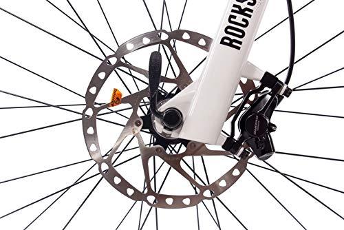 CHRISSON 27,5 Zoll E-Bike Pedelec E-Mountainbike E-Mounter 3.0 mit 10G DEORE XT Bosch PLINE CX Powerpack500 und ROCKSHOX Weiss grau matt 52 cm