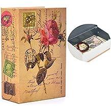 Portable Safe Diversion Books Libro sicuro nascosto a prova di fuoco con lucchetto a combinazione per deposito di denaro sicuro