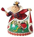 Enesco Disney Tradition By Jim Shore Alice nel Paese delle Meraviglie Regina di Cuore, PVC, 12x16x18 cm