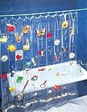 Wenko Duschvorhang 200x180cm mit 100 Taschen