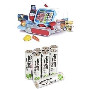 Casdon Supermarket Till with AmazonBasics AA Performance Alkaline Batteries