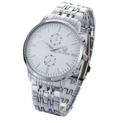 Herren Uhr Edelstahl Kristall Herren Uhren Casual Business Dial Analoge Quarzuhr Business Vogue Luxusuhren für Männer Armbanduhr