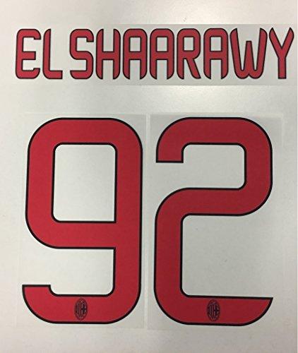 Flock Original AC Mailand Trikot 20cm - EL SHAARAWY 92 (Shaarawy Trikot El)
