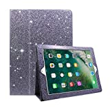 FANSONG iPad Air/Air2/Pro 9.7/iPad 2017 Glitter Case, Bling Sparkle PU Leather Smart Cover