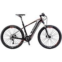 SAVADECK bicicleta eléctrica de montaña de fibra de carbono de 27,5 pulgadas juego de bielas de bicicleta de montaña en bicicleta con Shimano 2x11 Pedelec ...