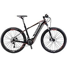 SAVADECK bicicleta eléctrica de montaña de fibra de carbono de 27,5 pulgadas juego de bielas de bicicleta de montaña en bicicleta con Shimano 20 Pedelec velocidad desmontable 36V / 10.5Ah Li-ion de SAMSUNG