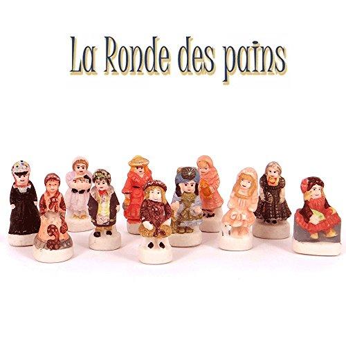 Set 11 encantos de porcelana - Muñecas Antiguas - La Rondes des Pains