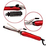 Vency Women's Professional Hair Curler Tong with Machine Stick and Roller (Multicolour)