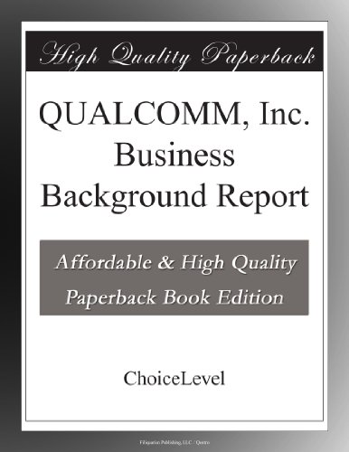 qualcomm-inc-business-background-report