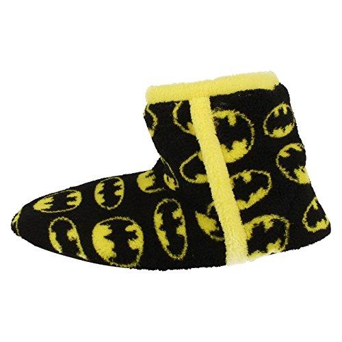Jungen Kinder Hausschuhe Stiefel Neuheit Batman Fleece Ohne Bügel DC Comics Winter Warm Schuhe Schwarz Gelb Schwarz