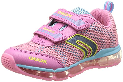 Geox J Android G A, Baskets mode fille Rose (Pink/Sky)