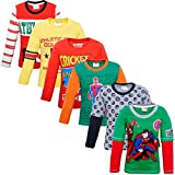 #4: JUSTICE LEAGUE BOYS T-SHIRT FULL SLEEVES PACK OF 6