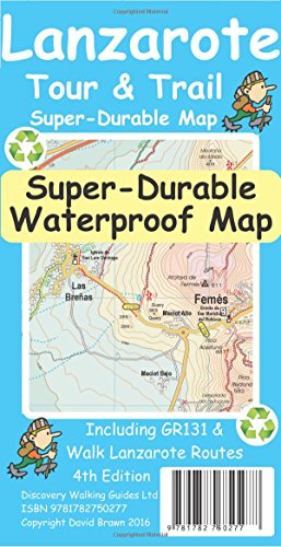Lanzarote Tour & Trail Super-Durable Map por Ros Brawn