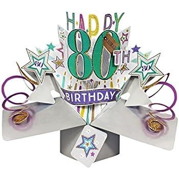 Second Nature Pop Ups Geburtstag Pop Up Card mitHappy 18th Birthday Schriftz/üge und Sterne