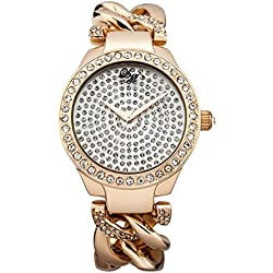 Little Mistress Women's Quartz Watch with Rose Gold Dial Analogue Display and Rose Gold Plated Bracelet LM014