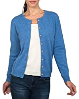 Wool Overs Women's Cashmere & Merino Ladies Everyday Crew Cardigan