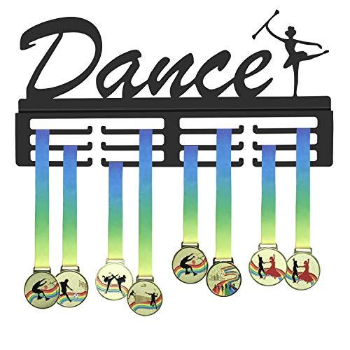 WEBIN, Supporto per medaglie da Danza, per esporre medaglie e trofei, in Metallo Nero