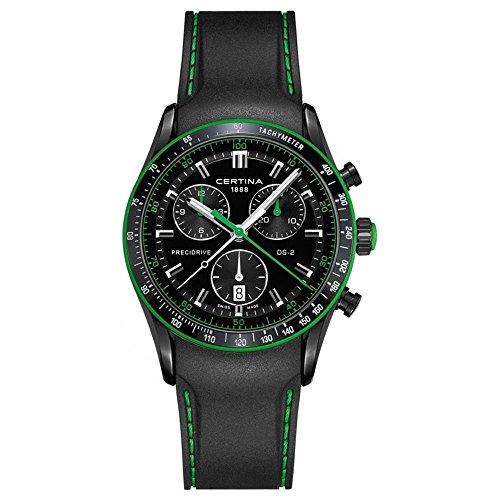 Certina DS-2 Chronograph 1/100 sec Homme 41mm Bracelet Caoutchouc Noir Quartz Montre C024.447.17.051.22