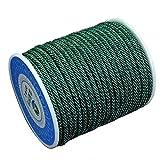 DIY925 Nylonband geflochten 16.5m Kordel 3mm grün Premium Qualität für die Schmuckherstellung