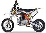 Pitbike RF Sport Motocicletta Da Motocross 125Cc Lem Motor 14/12 Bianco/Rosso