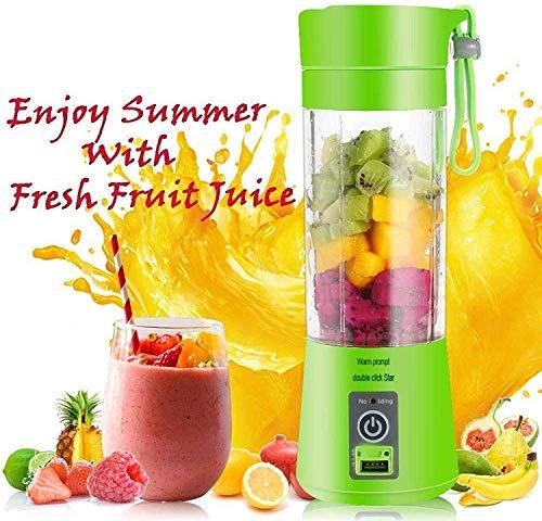 Rylan Rechargeable Portable Electric Mini USB Juicer Bottle Blender for All Fruits, Juice Maker Machine (Green)