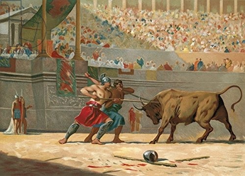 leinwand-bild-70-x-50-cm-julius-caesar-watching-a-circus-entertainment-bild-auf-leinwand