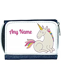 Personalised Unicorn Child/'s Wallet//Purse *Pink//Blue//Black//Red* Mayzie Designs®