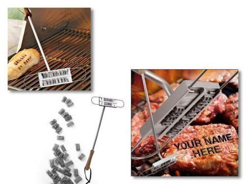 Unbekannt Steak Brandeisen mit Wechselbuchstaben