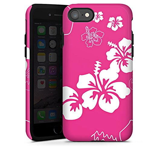 Apple iPhone X Silikon Hülle Case Schutzhülle Blume Flower Muster Tough Case glänzend