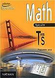 Math Tle S spécialité - Programme 2002