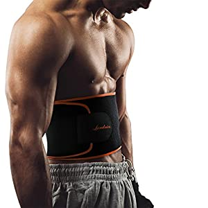 Fitness-Gürtel von Landnics, Bauchweggürtel für Männer und Frauen Gewichthebergürtel Schweiß Ab Gürtel Taillen-Trimmer Slimmerbelt Wrap für Sport,Laufen