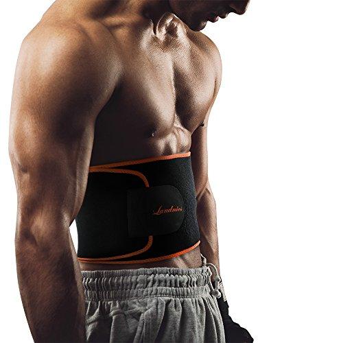 Fitness-Gürtel von Landnics, Bauchweggürtel für Männer und Frauen Gewichthebergürtel Schweiß Ab Gürtel Taillen-Trimmer Slimmerbelt Wrap für Sport,Laufen Rücken Unterstützung Gürtel Männer
