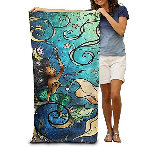 Monicago Frottiertücher Strandtücher, Quick Dry Towel Microfibre Towel, Mermaid Under The Sea Adults Cotton Beach Towel 31 X 51-Inch -