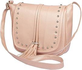 Mango Star Women's PU Sling Bag, (Cream, mangostar2)