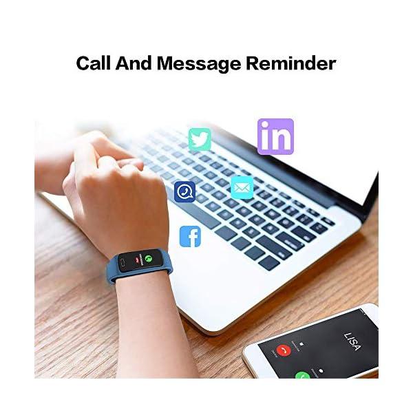 Pulsera de Actividad Inteligente Impermeable IP67 con 8 Modos de Deporte,Pulsera Inteligente con Pulsómetro, Blood Pressure, Sueño,Podómetro,Pulsera Deporte para Android y iOS Teléfono móvil 12