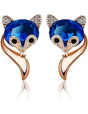 Merdia Ohrringe Schöner Fuchs Geschaffene Kristallohrringe Für Mädchen Geschenk Blau