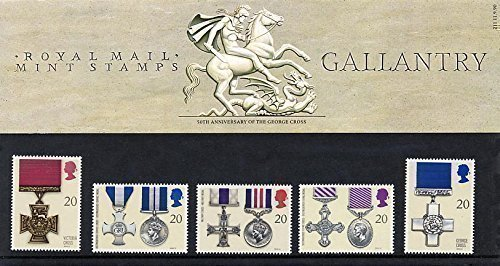 1990 Gallantry Commemorative Presentation Pack PP183 (printed no. 211) - Royal Mail Stamps by Royal Mail (Service Army Medal)