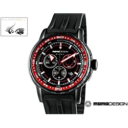 MOMO Design MD2164BK-04BKRD-RB - Reloj