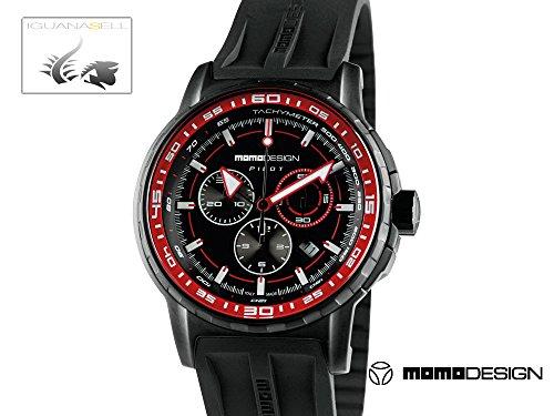 Momo Design Pilot Pro Crono Quarzo Uhr, PVD, Chronograph, 46mm., MD2164BK-41