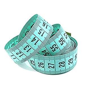v_esafe 150cm / 60″ Körper Maßlineal Nähen Schneider Maßband weich flach (zufällige Farbe)