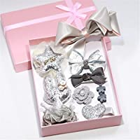 Yesiidor 10 PCS Hair Accessories Set Girl Bowknot Flower Hair Clip Multi-Style Bow Hairpin Ribbon Gift Without Box
